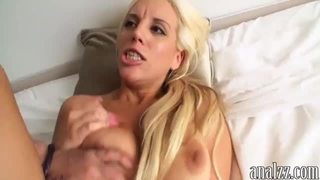 Busty blonde bitch first time anal sex caught on cam