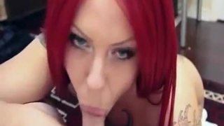Redhead gives blowjob... what is her name please?