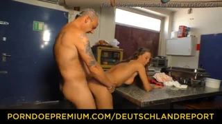 Deutschland report - amateur german chick gets seduced and fucked in the kitchen